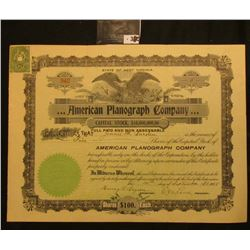 "Capital Stock Certificate for Five Shares of ""State of West Virginia …American Planograph Company"","