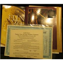 "Folding brochure for ""F.U.N. 2007"" depicting an 1855 Fifty Dollar Gold Piece; Catalog with Gold Cast"