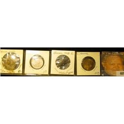 "(3) Hoover Presidential Medals and an Elephant ""Hoover"" Pin-back. 'Doc' valued this group at over $4"