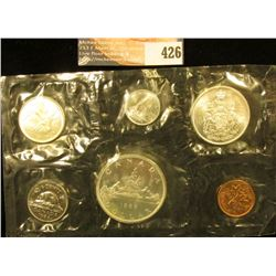 1966 Canada six-piece Mint Set with .800 Fine Silver Voyageur Dollar in original cellophane as issue