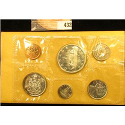 1965 Canada six-piece Mint Set with .800 Fine Silver Voyageur Dollar in original cellophane and enve
