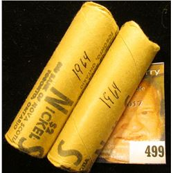 "Pair of 1964 Gem BU Solid Date Rolls of ""Beaver"" Canadian Nickels. (80 pcs.)"