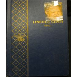 1941-61 Partial Lincoln Cent Set in a Deluxe Whitman Album. Includes some BU.