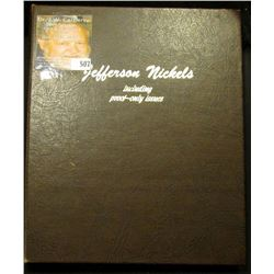 1938-2000 Complete Set of Jefferson Nickels in a Deluxe Whitman album. No proofs or over-dates.