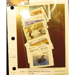 Complete Set of Missouri Waterfowl Stamps 1982-1996 Issues, MO4-18, unsigned Mint Condition as sold