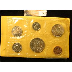 1870-1970 Royal Canadian Mint Set with Manitoba Commemorative Dollar. In original cellophane and gov