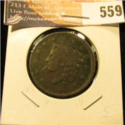 1836 U.S. Large Cent, G. Light corrosion.