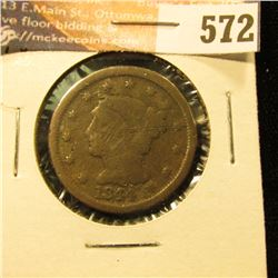 1844 U.S. Large Cent, AG.