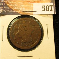 1852 U.S. Large Cent, AG.