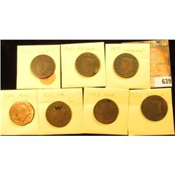 (7) U.S. Large Cents 1818-1826 with Various wear and damages.