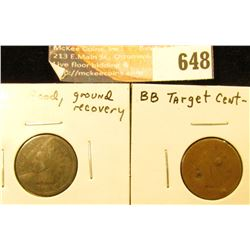 1866 Ground Recovery and 1871, AG with Several Dents, Indian Head Cents.