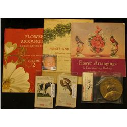 "Coca-Cola 1940-42 soft bound books Volume I, II, & III ""Flower Arranging A Fascinating Hobby"" by Lau"