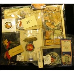"Nice selection of Campaign memorabilia from Herbert Hoover's Political Campaign. Includes ""Recipes f"