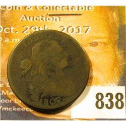 1802 U.S. Large Cent, VG, corroded.