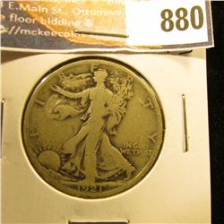 1921 S Walking Liberty Half-Dollar, VG.