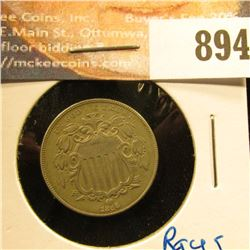 1866 with Rays U.S. Shield Nickel, EF.