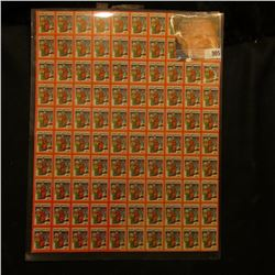 1932 Mint Sheet of 100 Christmas Seals.