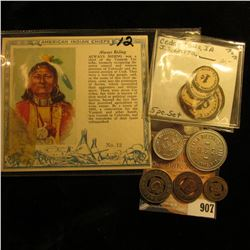 "Five-piece Set of ""Educational Toy Money J.S. Latta""; Red Man Chewing Tobacco Card ""American Indian"