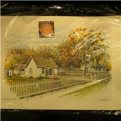 "12"" x 17"" Color Print of ""Herbert Hoover Birthplace West Branch, Iowa""."