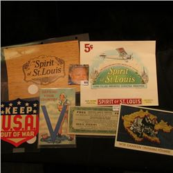 "Group of World War II War Memorabilia including a piece of scrip from ""Denis Studios 203 N. Wabash A"