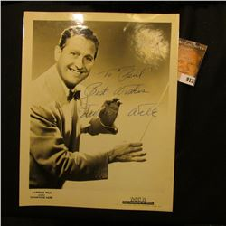 "8"" x 10"" Studio Photo personally autographed ""To ""Paul"" Best Wishes Lawrence Welk""."