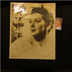 "8"" x 9 3/4"" Black and White self standing Photo of Catherine Rosalind Russell, famous actress. Perso"