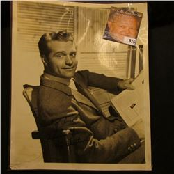 "8"" x 10"" Studio Photo personally autographed ""Best of luck Idood it Red Skelton"", tear in photo at b"