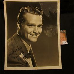 "8"" x 10"" Early Studio Photo of Red Skelton personally autographed ""Best of luck Idood it Red Skelton"