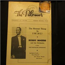 """Palomar Dining Dancing The Paloma Vermont At Third…Phone Drexel 7131"" with cover of Buddy Rogers. P"