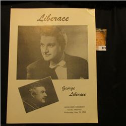 "Original Program ""Liberace George Liberace Ak-Sar-Ben Coliseum Omaha, Nebraska Wednesday, May 19, 19"