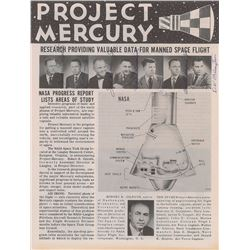 Gordon Cooper's Mercury 7 Signed Pamphlet