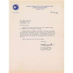 Scott Carpenter 1962 Signed Letter and Photograph