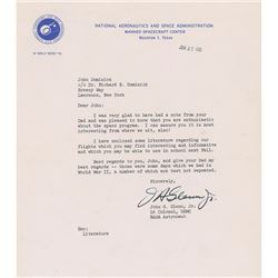 John Glenn 1963 Typed Letter Signed