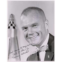 John Glenn Signed Letter and Photograph