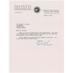 Gus Grissom 1961 Typed Letter Signed