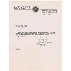 Gus Grissom 1962 Typed Letter Signed