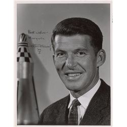 Wally Schirra 1961 Signed Letter and Photograph