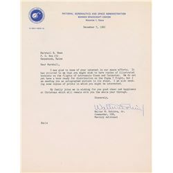Wally Schirra 1962 Typed Letter Signed