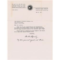 Alan Shepard 1961 Typed Letter Signed