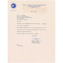 Alan Shepard 1963 Typed Letter Signed