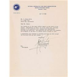Neil Armstrong 1963 Typed Letter Signed