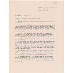 Tom Stafford 1963 Signed Academic Training Memorandum