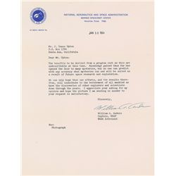 Bill Anders 1964 Typed Letter Signed