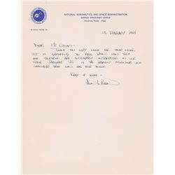 Alan Bean 1964 Handwritten Letter