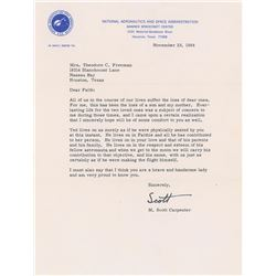 Theodore C. Freeman: Signed Letter of Condolence from Scott Carpenter