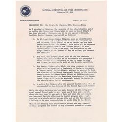 James E. Webb 1965 Signed Memorandum