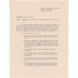 Edward H. White II 1963 Signed Astronaut Training Memorandum