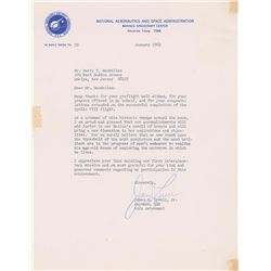 James Lovell 1969 Typed Letter Signed