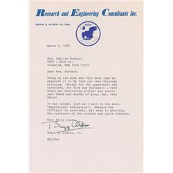 Buzz Aldrin 1976 Typed Letter Signed