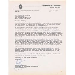 Neil Armstrong 1979 Typed Letter Signed
